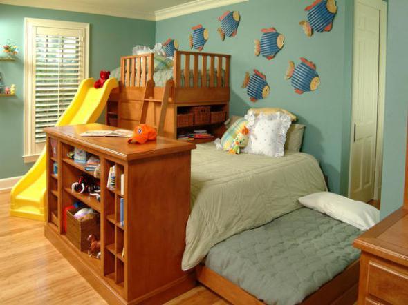 как расставить мебель в однокомнатной квартире с детьми