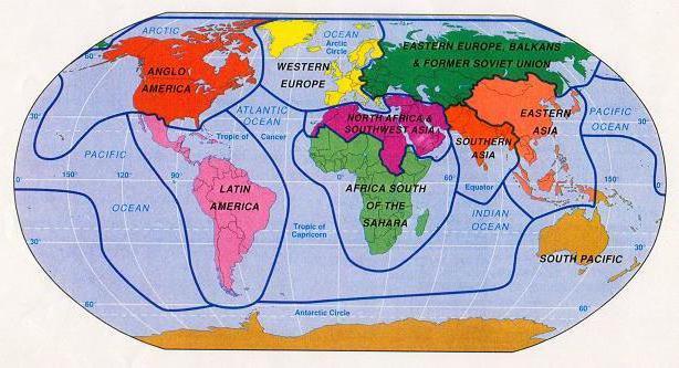 историко культурные районы мира