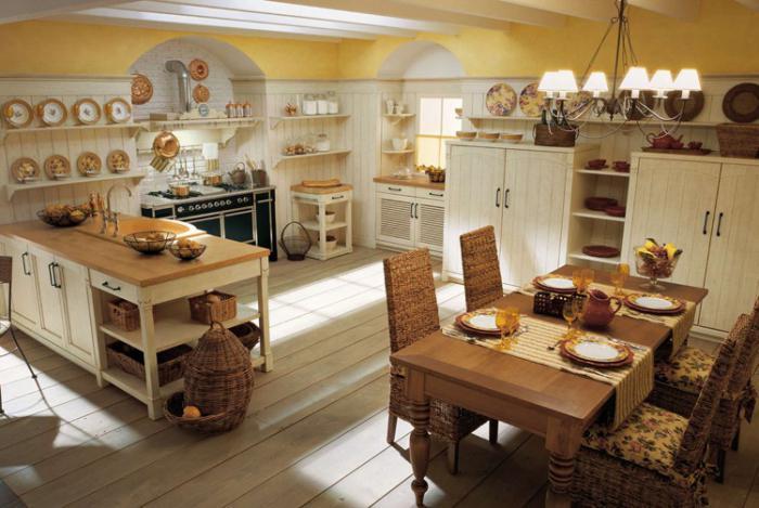 интерьер кухни в русском стиле