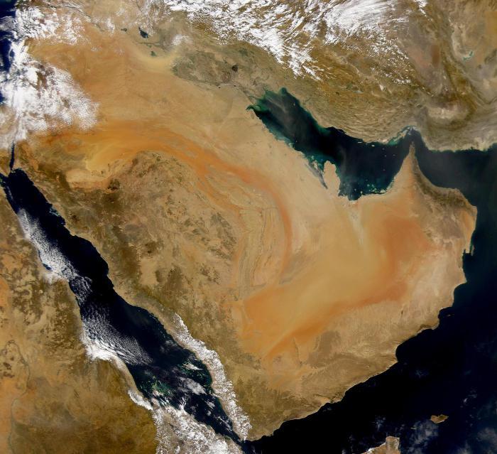 аравийская пустыня на карте