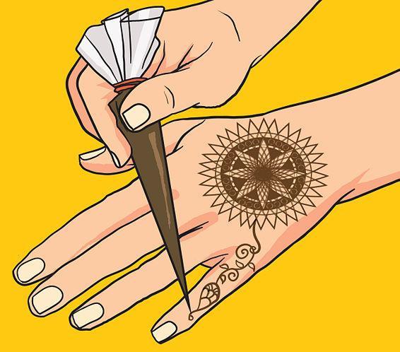 как научиться рисовать хной на руках