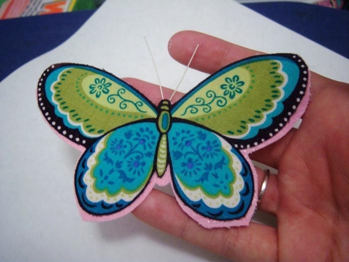Бабочками из ткани своими руками 826