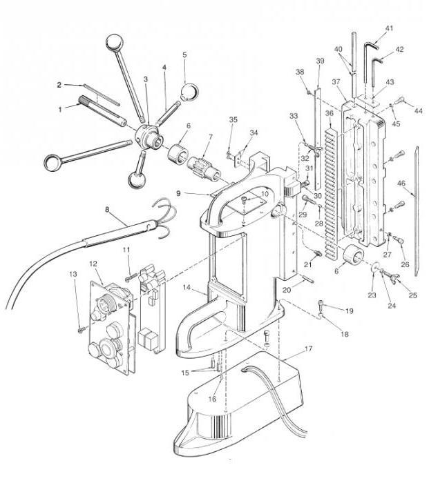 чертеж сверлильного станка из дрели