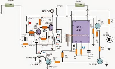 электрическая схема откатных ворот