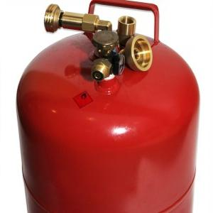 fill the gas cylinder to give