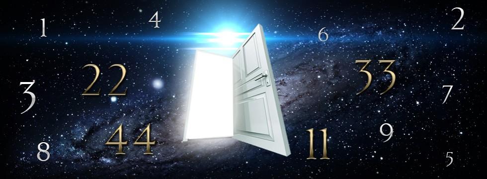 open door and numbers