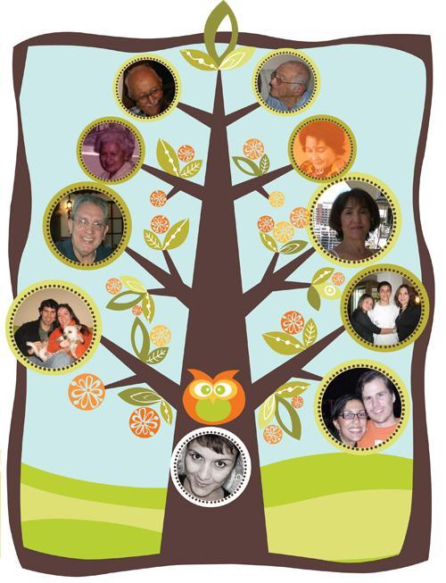 Открытка генеалогическое древо