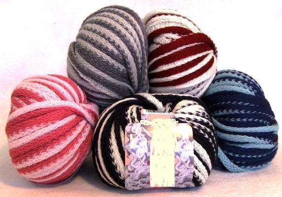 Использование ленточной пряжи в вязании одежды