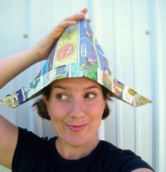 шапка из газеты