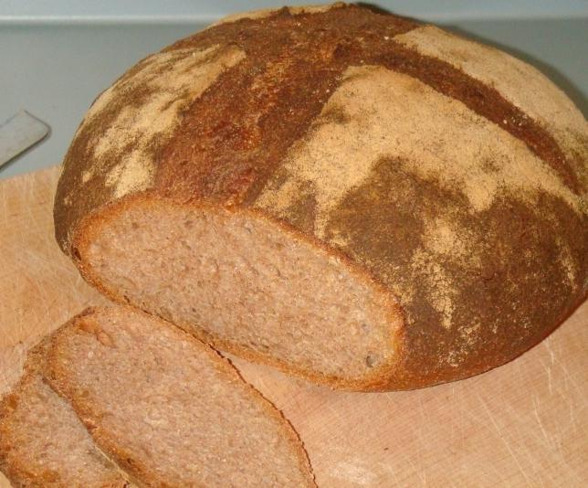пшеничный хлеб на закваске в духовке рецепт