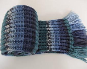 шарф патентной резинкой