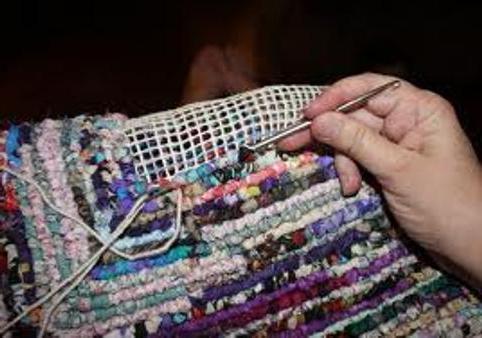 коврики из лоскутков ткани