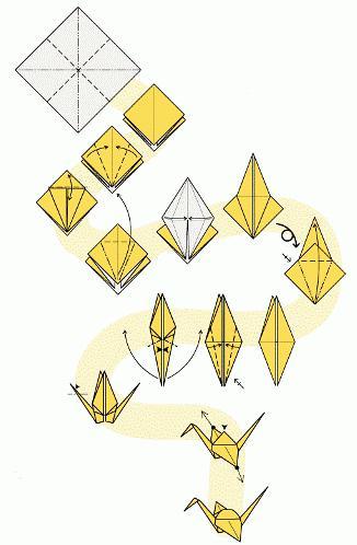 оригами из бумаги попугай