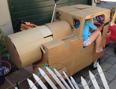 поделка танк из картона