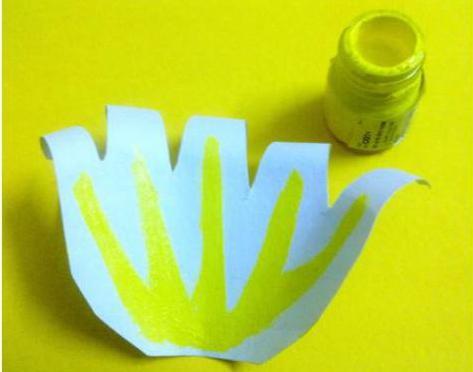 лилия из бумаги схема