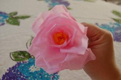 как сделать легко розу из бумаги