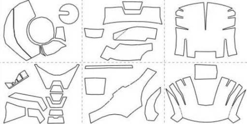 Схемы маски железного человека