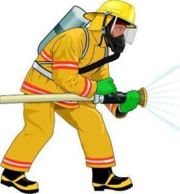 как нарисовать пожарника