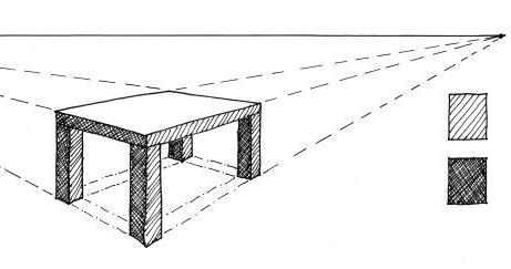 как нарисовать стол поэтапно