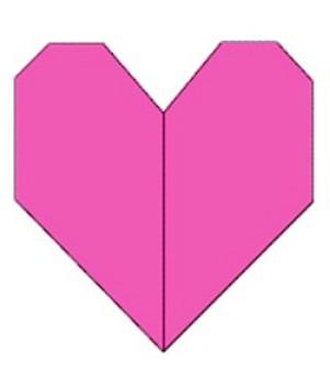 Как сделать бумажное сердечко