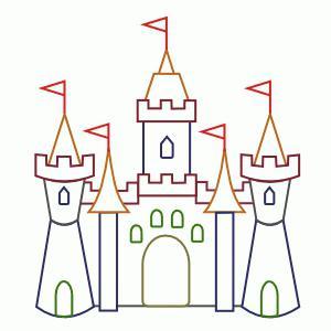 как нарисовать замок поэтапно