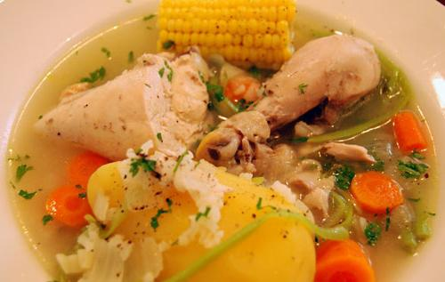 Рецепт супа на бульоне из свинины