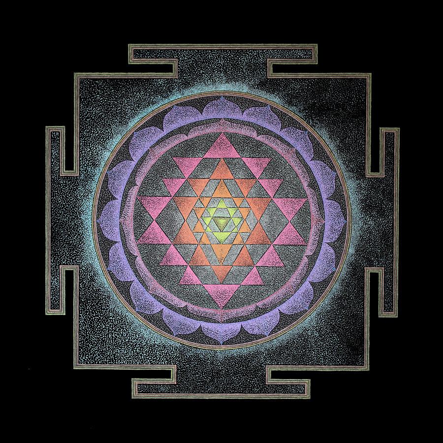 шри янтра рисунок