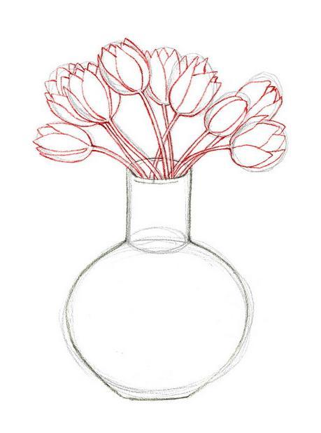 Смотреть картинки как нарисовать вазу с цветами