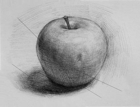 рисунок вазы карандашом: