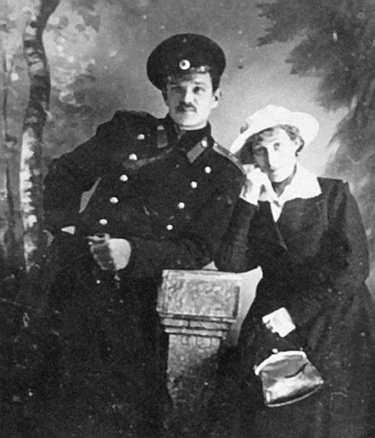 Agapkin with his wife