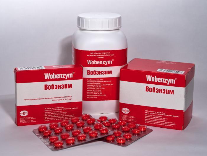 Таблетки Вобэнзим инструкция цена и отзывы