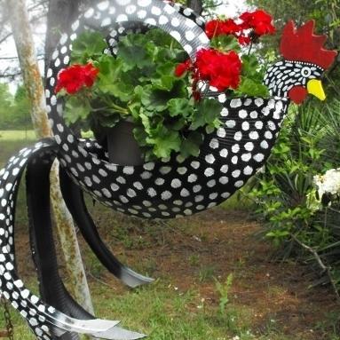 Фото клумб и цветников из покрышек своими руками