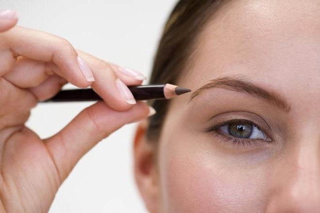 Как красить брови карандашом и тенями
