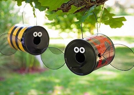 идеи для дачи и сада своими руками - забавные букашки