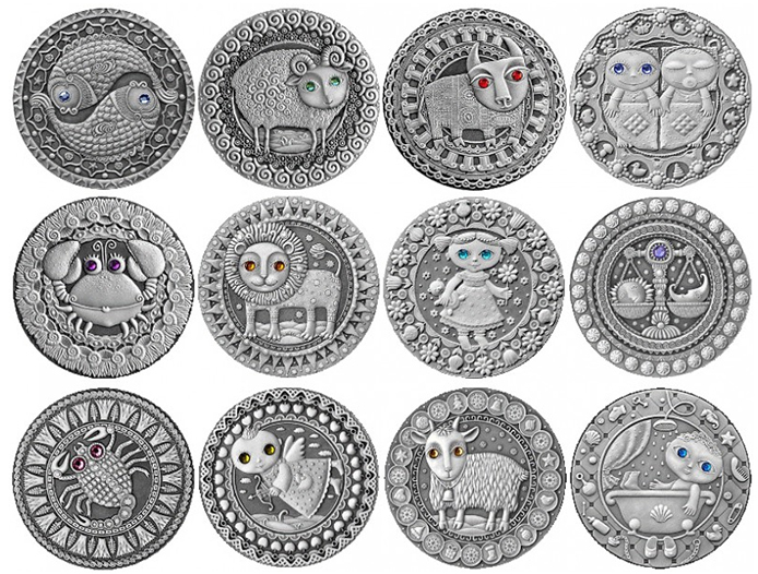 """Coins of the series """"Zodiac Signs"""" - Belarus"""