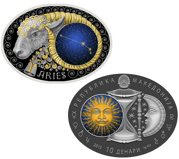 Coin Zodiac Signs Macedonia - Aries