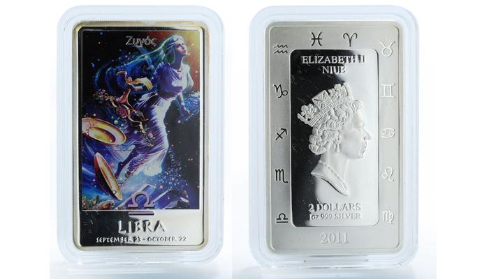 """Coins """"Zodiac Signs"""" Niue - Libra"""