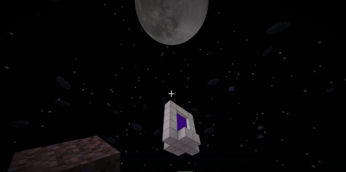 Майнкрафт портал в космос