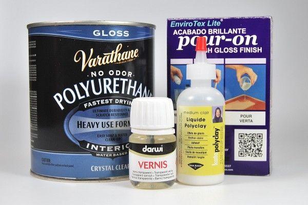 Различные лаки для полимерной глины