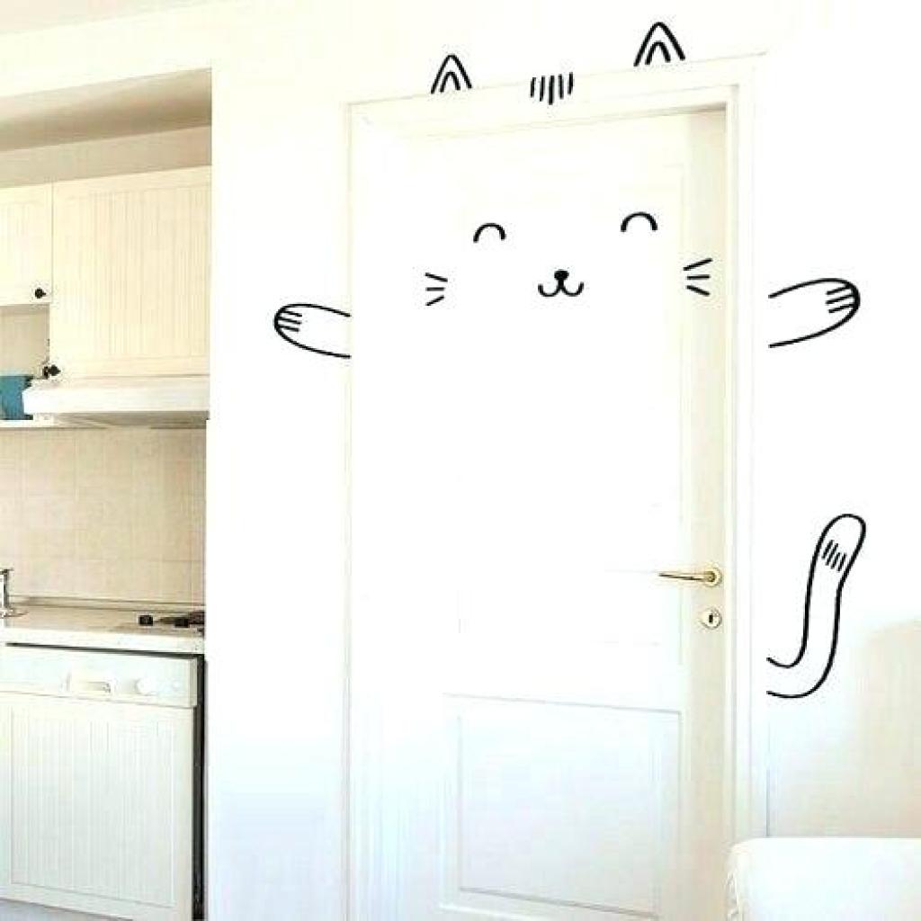 рисунок на двери детская