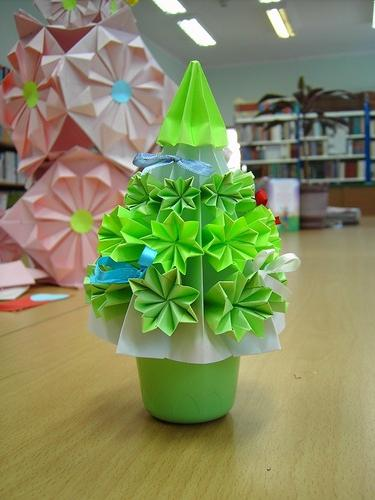 Оригами подарок на новый год