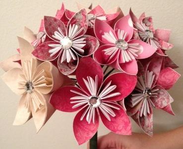 модульные оригами цветы