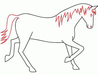 как нарисовать голову лошади поэтапно