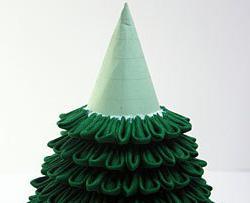 елка в технике канзаши