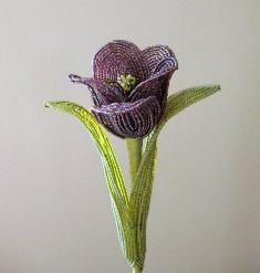 Как из бисера сделать тюльпан