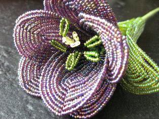 плетение тюльпана из бисера
