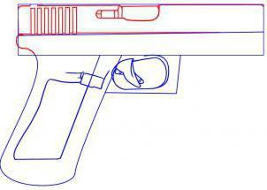 как нарисовать оружие поэтапно