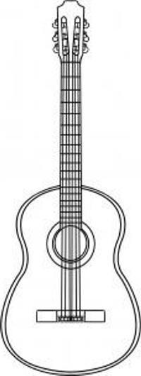как нарисовать гитару карандашом поэтапно