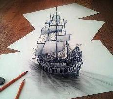 как научиться рисовать 3d рисунки на бумаге