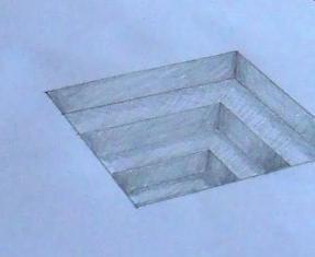 3d рисунки на бумаге поэтапно
